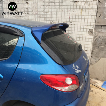 Fit For Peugeot 206 207 Spoiler 2008-2013 Fashion Car Tail Wing Decoration ABS Plastic Unpainted Rear Trunk Roof Spoiler AITWATT