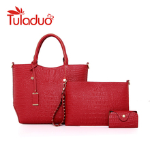 Fashion Composite Bag Set Ladies High Quality Handbags Designer Women Alligator Leather Bags Sac a Mian