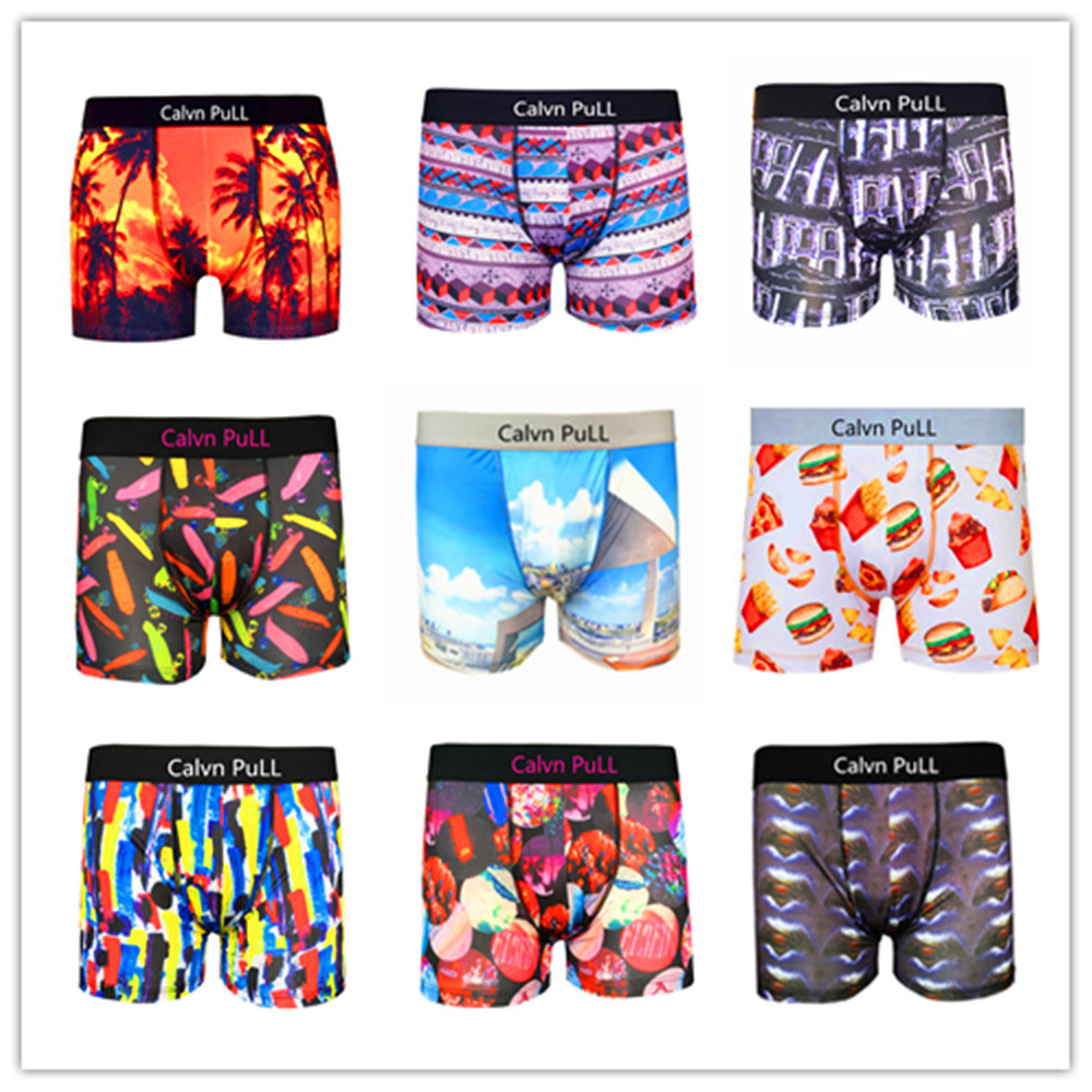 (1 piecelot) 2017 Brand Fashion Calvn Pull In Underwear Mens Boxer Shorts Sexy Boxer Pull In Boxers Men Trunk Master S M L XL
