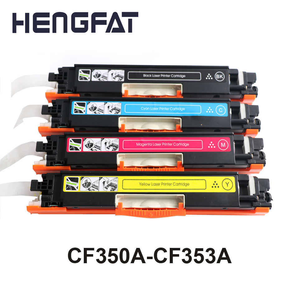 Compatible CF350A CF351A CF352A CF353A 130A Color Toner Cartridge for hp Color LaserJet Pro MFP M176n, M176 M177fw M177 printer use for hp 4730 toner cartridge toner cartridge for hp color laserjet 4730 printer use for hp toner q6460a q6461a q6462a q6463a