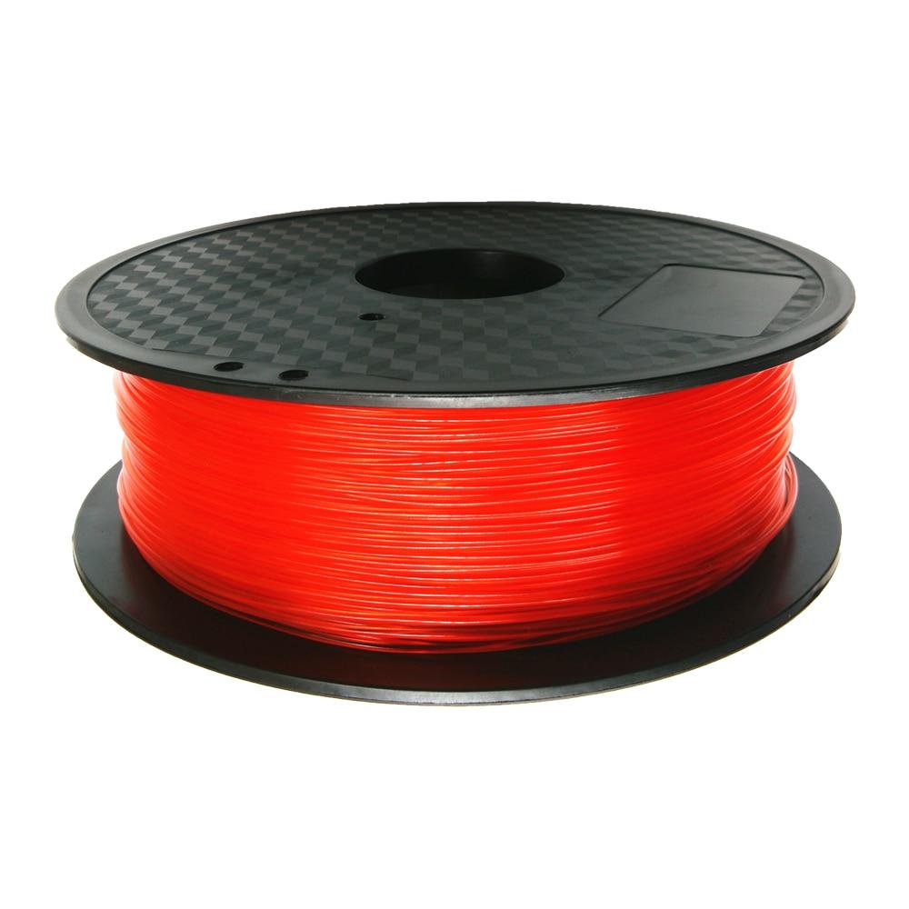 PLA Filament 1.75mm Tran-Red Color for 3D Printer & 3D Printing Pen Reprap / Wanhao / Makerbo with 3d printer parts 1KG/roll pla gold wanhao 3d printer filamnets pla 1 75mm plastic spool 1kg