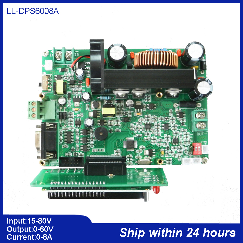 0 to 60V 8A DC Digital Control Programmable Buck Module/Didital Voltammeter/DC Step down Converter with 485 232 Communication pcf8591 8 bit a d d a converter module