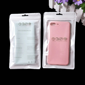 Image 3 - 100PCS Cell Phone Case Ziplock Bags PP Plastic Cell Phone Cover Pouch Bags Accesorries Packaging Sealing Pouch Custom Logo