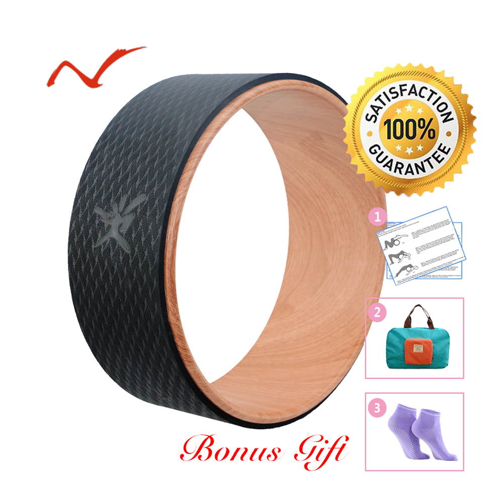 Yoga Wheel With Foldable Handy Bag Pilates Magic Circle Yoga Ring Home Slimming Fitness Equipment