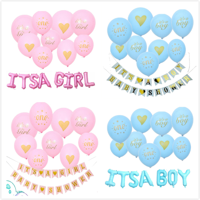 Its A Boy Its A Girl Gender Reveal Party Balloon Babyshower