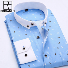 Мужская рубашка 2016 Slim Fit M035