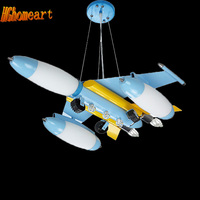 Top Children Room Iron Aircraft Pendant Light Led 110V 220V E14 LED Lamp Boy Pendant Lights