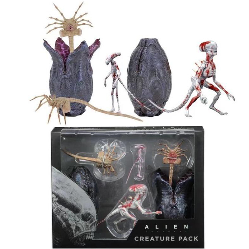 Aliens vs Predator Alien 2 Creature Pack PVC Action Figure Collectible Model Toy predator action figure master wolf predator anime movie predator vs alien collectible model toy pvc 200mm
