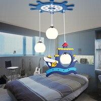Детям игрушки современный светодиодный пиратского корабля подвесные светильники комнаты для мальчиков и девочек спальня лампа творческий