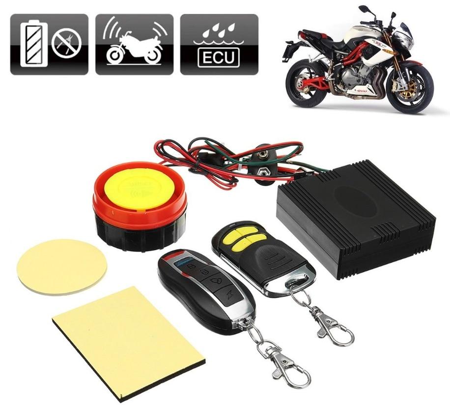 Universal Motorcycle Bike Alarm System Scooter Anti-theft Security Alarm System Remote Control Engine Start+Alarm Moto Speaker