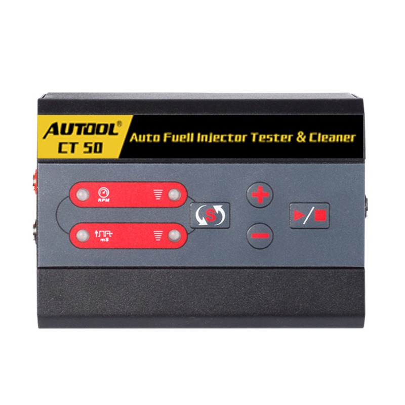 AUTOOL CT50 Fuel Injector Tester Fuel Pump Pressure Test Automotive Diesel Gas Injectors Nozzles Unlimited Pulse