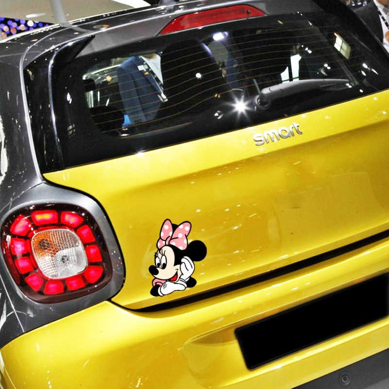 Aliauto забавные Микки и Минни Маус Мышь, с изображением мультяшного автомобиля, Стикеры наклейка для Volvo Xc90 S60 S80 S40 V50 Xc70 V40 Opel Смарт Renault