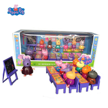 Genuine Peppa Pig Toy classroom desk Little partner set George Pig Peluche Action Figures Anime figuras Toy for Children Gift genuine peppa pig toy whistle post flute george pig peluche peppa action figures anime figuras peppa pig toys for children gift
