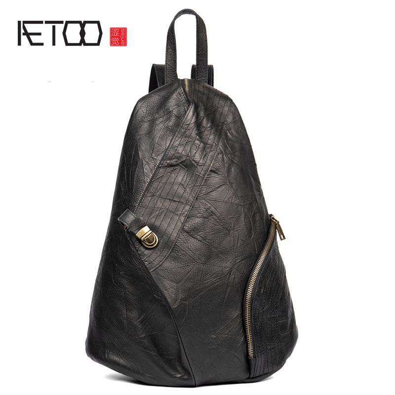 AETOO Anti-theft leather shoulder bag mens backpack first layer leather backpack female rucksack outdoor bagAETOO Anti-theft leather shoulder bag mens backpack first layer leather backpack female rucksack outdoor bag