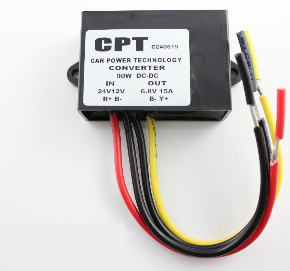 New Waterproof DC Power Converter 12V 24V to 6V 15A 90W Power Supply Module meanwell 12v 132w ul certificated clg series ip67 waterproof power supply 90 295vac to 12v dc
