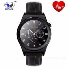 Smart watch x10 sport smartwatch pulsmesser fitness tracker gunine leder mobile armbanduhr für android ios