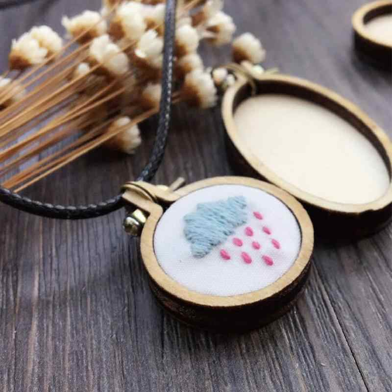 Mini/Large Wooden Cross Stitch Hoop Ring Embroidery Circle Sewing Kit Frame Craft Set Wooden Frame 2 Chip Screw 2 Screw Nut
