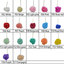 10 Heads 8CM Pretty Artificial Foam Rose Flowers