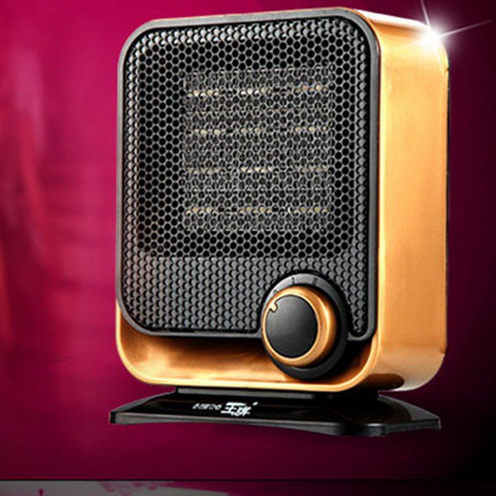 Ventiladores de calentador eléctrico de 220V Mini PTC calentador de espacio ventilador calentador de invierno eléctrico hogar Oficina Baño calentador de escritorio AC220-240V 6 orificios de Gas de la estufa de pulso de la chispa de encendido eléctrico piezas del calentador de agua seguro de alta calidad