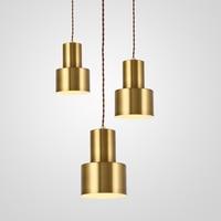 Nordic Gold bronze pendant light postmodern minimalist lamp light pendant lamps antique lamp lights metal cord pendant lighting