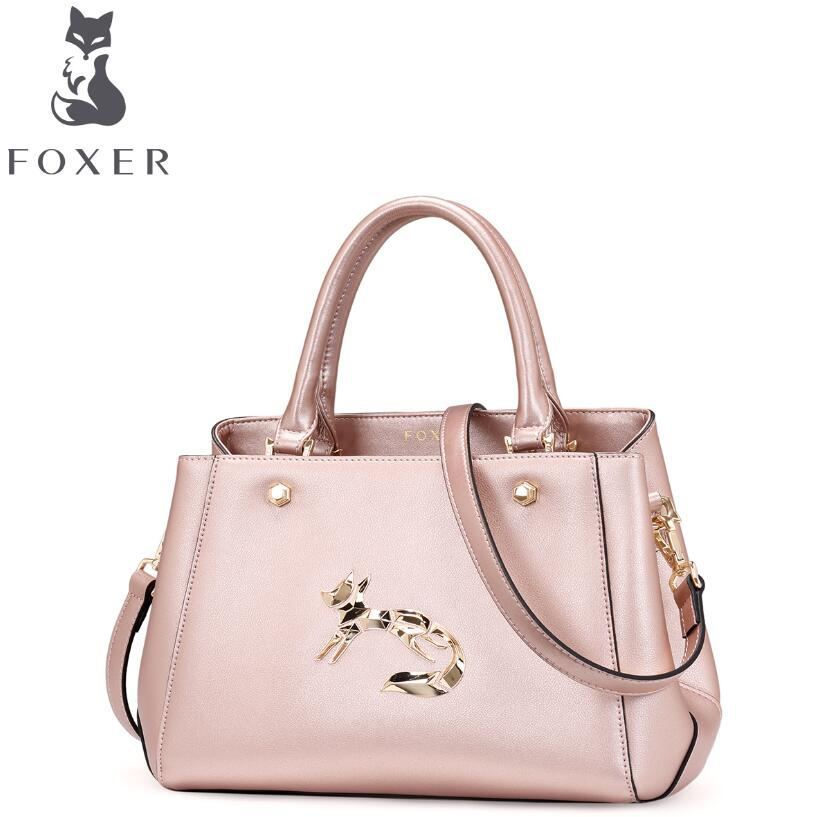 FOXER 2016 new superior cowhide women genuine leather bag fashion sequins famous brands women leather handbags shoulder bag women bag 2016 new foxer brand women genuine leather backpack fashion quality women cowhide leisure wild student backpack