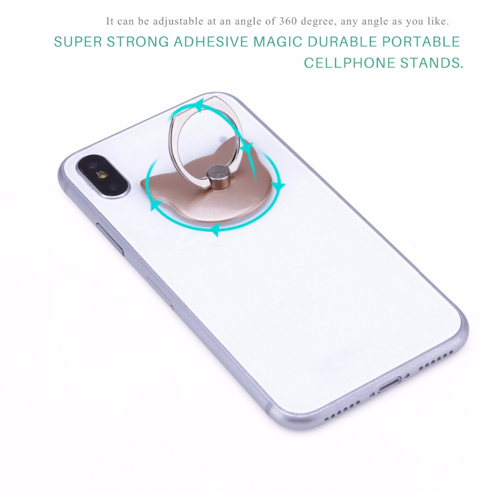 Mobile Phone Accessories Cellphones & Telecommunications Powstro Finger Ring Holder Cute Cat Pattern Grip Phone Holder Mount Universal 180 Degree Grip Desk Stand For All Cellphone