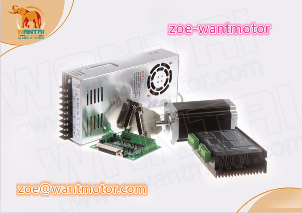 DE ship and EU free!CNC Wantai 1Axis Nema23 Stepper Motor single shaft WT57STH115-<font><b>4204A</b></font> 4.2A 425oz-in +Driver DQ542MA 50V 4.2A image