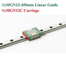 Новый MGN12 12 мм Линейных Железнодорожных Слайд Направляющая MGN12 Длина 450 мм Шина С MGN12C Блок Чпу Части