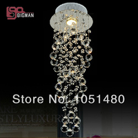Free Shipping Hot Sales Hallway Double Spiral Modern Crystal Ceiling Lights Contemporary Home Light Dia200 H620MM