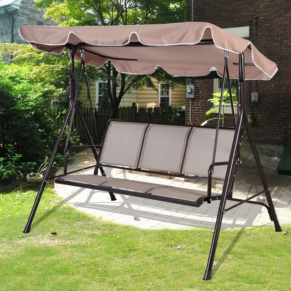 PROMOTION SWINGING 3 SEATER GARDEN HAMMOCK SWING RELAX SEAT OUTDOOR BENCH  CHAIR PATIO FREE SHIPPING OP2575 In Patio Swings From Furniture On  Aliexpress.com ...