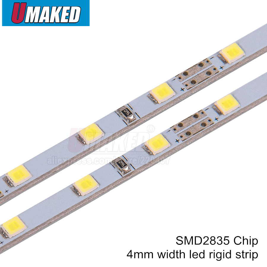 50CM SMD2835 LED Hard Rigid Strip High Brightness DC5V 4mm