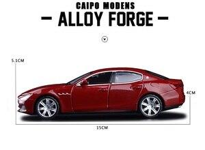 Image 5 - 높은 시뮬레이션 절묘한 다이 캐스트 및 장난감 차량: Caipo 자동차 스타일링 마세라티 지브리 1:32 소리와 빛으로 합금 자동차 모델