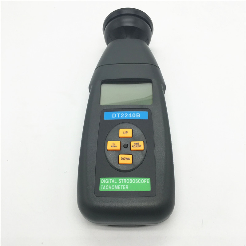 DT2240B Flash frequency Digital Speedometer / stroboscope / Non-contact tachometer 60~40000RPM