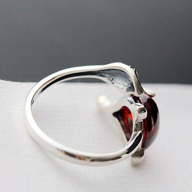 Женское кольцо из тайского стерлингового серебра 925 пробы с