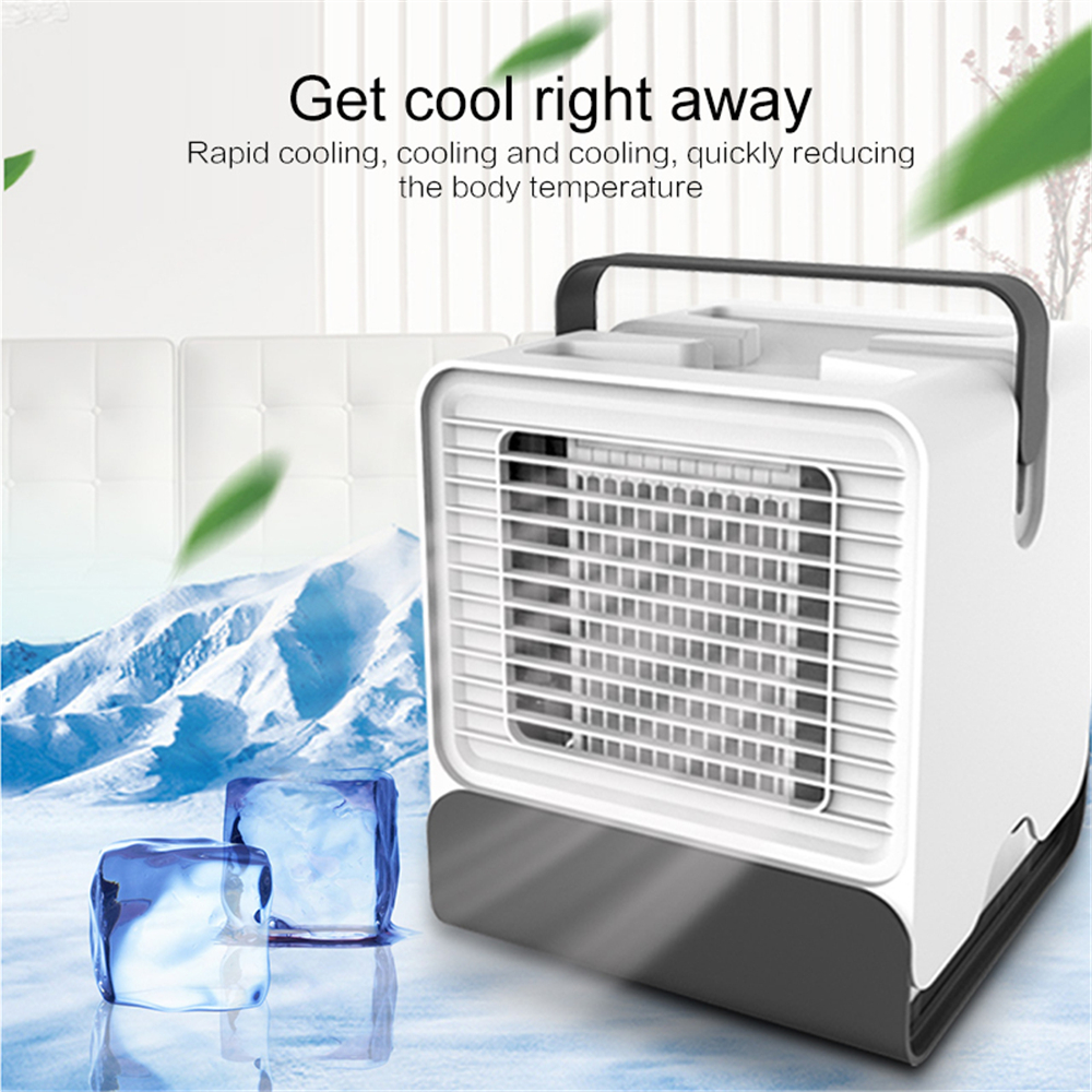 Portable Desk Fan Mini Air Conditioner Anion Cooling Cooler FAN Device USB Power Supply For Office Notebook Laptop Computer