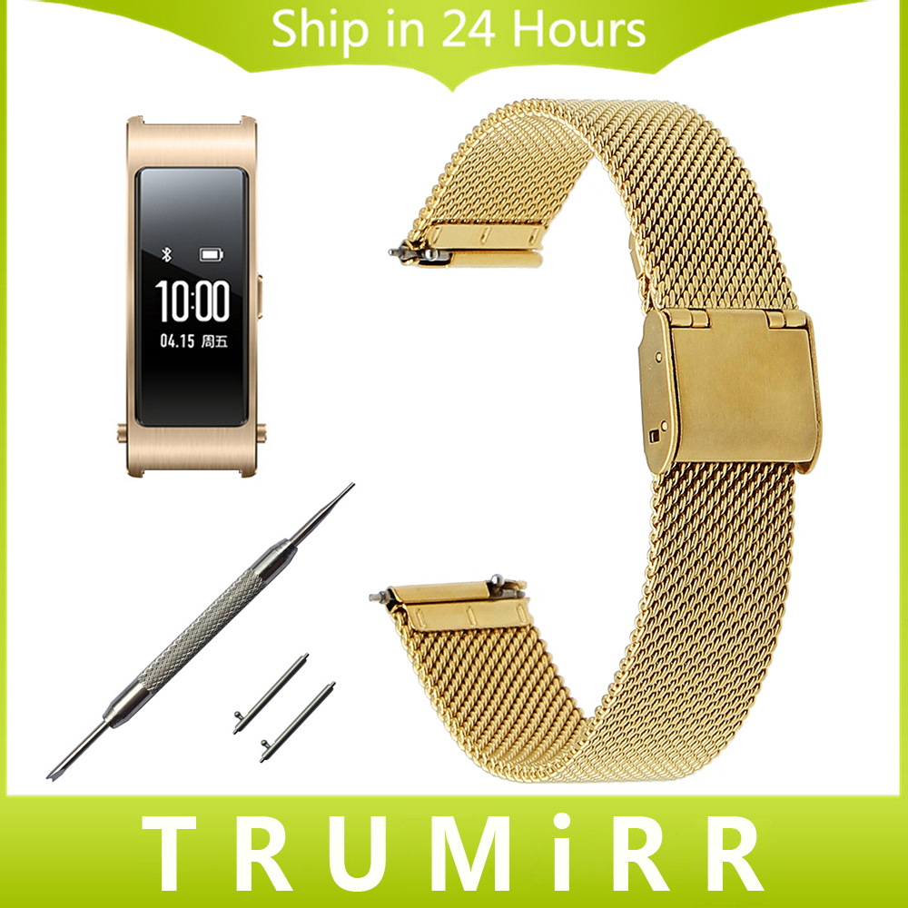 16mm Quick Release Watch Band Milanese for Huawei Talkband B3 Moto 360 2 42mm Women's Stainless Steel Strap Wrist Belt Bracelet 20mm milanese watch band quick release for samsung gear s2 classic sm r7320 pebble time round stainless steel strap bracelet