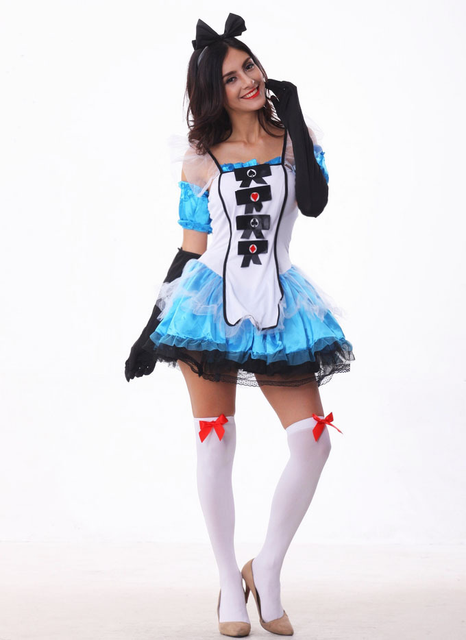Ensen Alice In Wonderland Dress Lolita Maid font b Cosplay b font Fantasia Carnival Halloween font