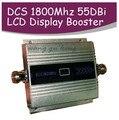 4G LTE FDD band 3 + DCS de refuerzo repetidor ganancia 55dbi LCD función de la exhibición 1800 Mhz DCS teléfono móvil amplificador de señal y 4G repetidor