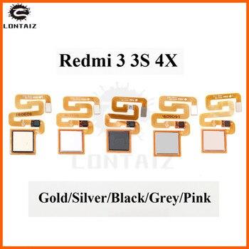 Fingerprint Scanner For Xiaomi Redmi 3 3s 4X Pro Home Button Fingerprint Sensor Flex Cable Touch ID Return Key недорого