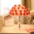 Romantic Foyer Reading sitting living room princess desk gift wedding table lamp rose flower marriage table light +E27 LED lamp