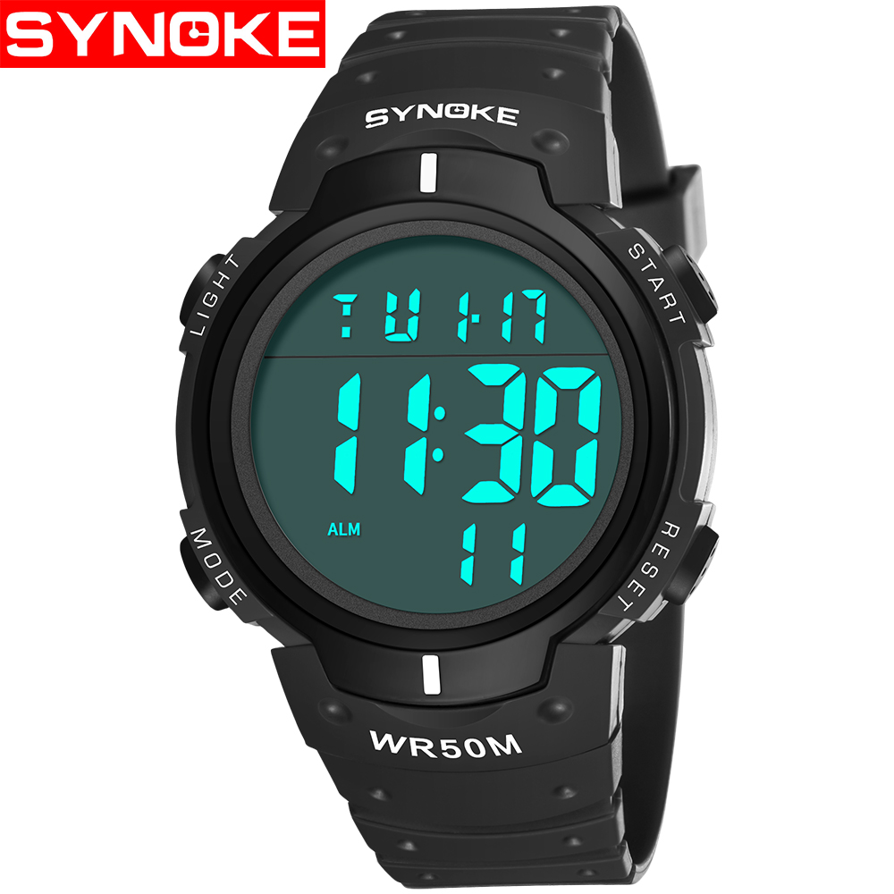 e9a326a442f Esportes homens Relógios SYNOKE Led Relógio Digital de Alarme Digital  Relógio de Pulso Para O Homem