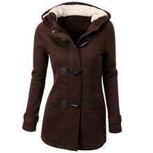 Long Hooded Horn Button Coat
