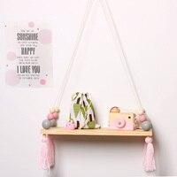 1 * Nordischen Stil INS Kinder Holz Dekorative Wandregale Speicherorganisator Regal Für Kleidung Spielzeug Buch Baby Raumdekoration Rack