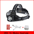 RU USA 2300Lumen CREE XM-L T6 LED Headlamp Headlight Caming Hunting Head Light Lamp 3 Modes +2*18650 Battery + EU+Car Charger