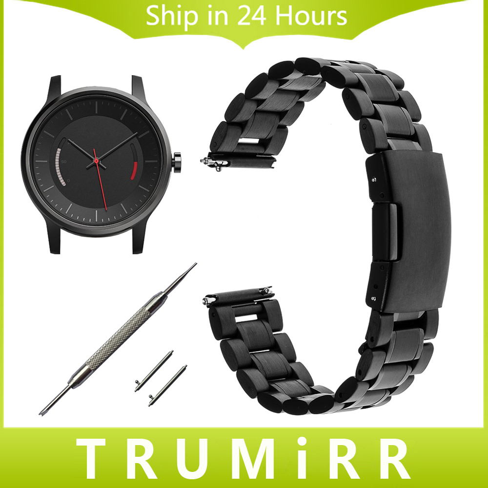 20mm Quick Release Watchband for Garmin Vivomove Stainless Steel Watch Band Link Strap Replacement Bracelet Black Silver + Tool replacement silicone watch strap wrist band for garmin fenix5 fenix 5 garmin forerunner 935 gps watch quick release watchbands