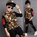 Children Clothing Sets For Boys Camouflage Sports Suits Autumn Kids Tracksuits 2016 Teenage Boys Sportswear 6 8 9 10 12 14 Years