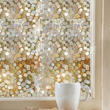 Stained Round window foil film 3D Static Cling toning bathroom glass sticker furniture PVC Decorative vinyl 60*500cm