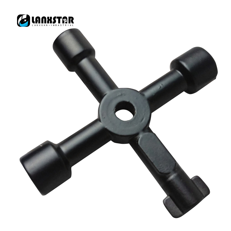 Multifunction Cabinet Door Elevator Triangular Key Wrench Square Hole Water Meter Valve Train 4 in 1 Cross Handle-wrench 1 2 built side inlet floating ball valve automatic water level control valve for water tank f water tank water tower