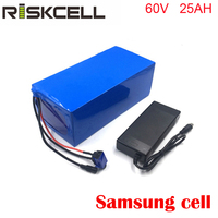 Factory customized 60v 25ah 3000w lithium ion electric scooter battery packs for samsung cell
