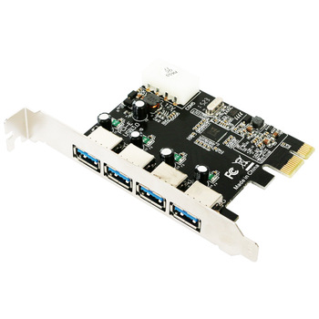 4 port USB 3.0 PCI-e Expansion Card PCI express PCIe USB 3.0 hub adapter 4-port USB3.0 controller USB 3 0 PCI e PCIe express 1x Add On Cards